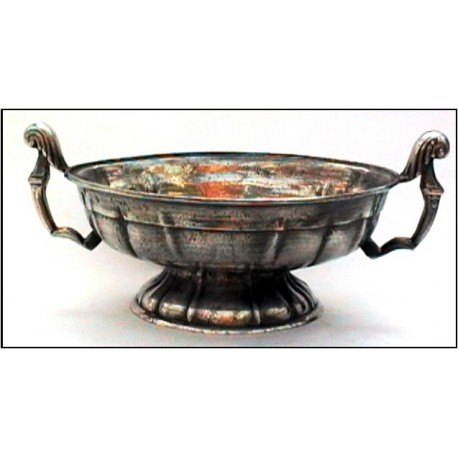 Pewter oval bowl