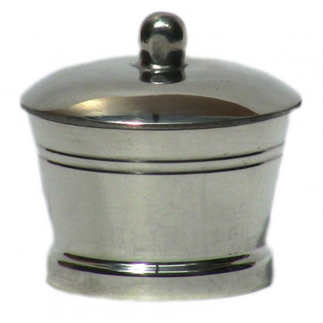 Pewter plain tooth box
