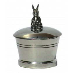 Pewter rabbit tooth box