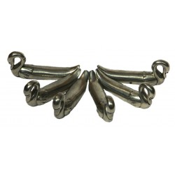 Pewter swan knife holders