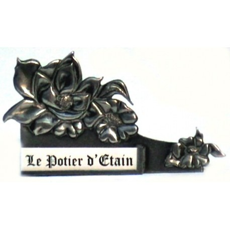 Pewter name carrier