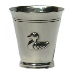Pewter duck goblet