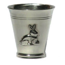 Pewter rabbit goblet