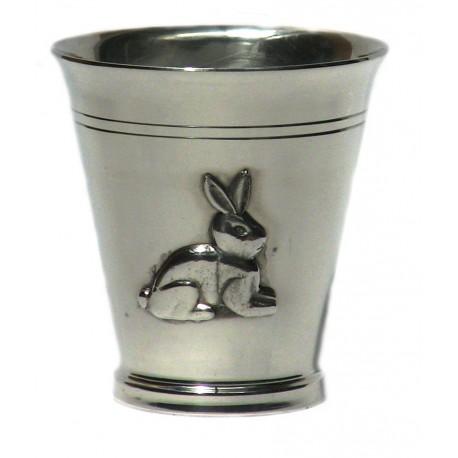 Pewter rabbit goblet