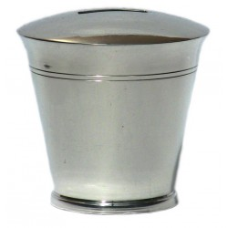 Pewter plain money box