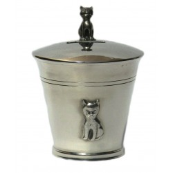 Pewter cat money box