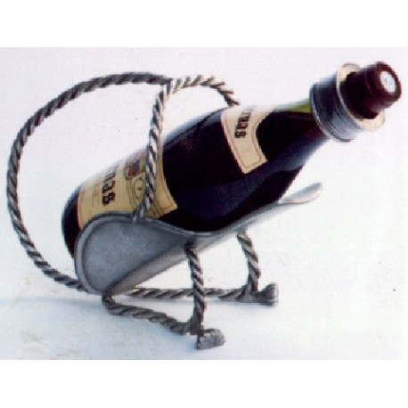 Pewter bottle holder