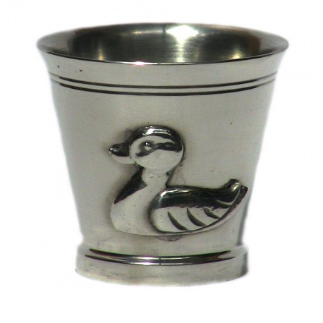Pewter duck egg cup