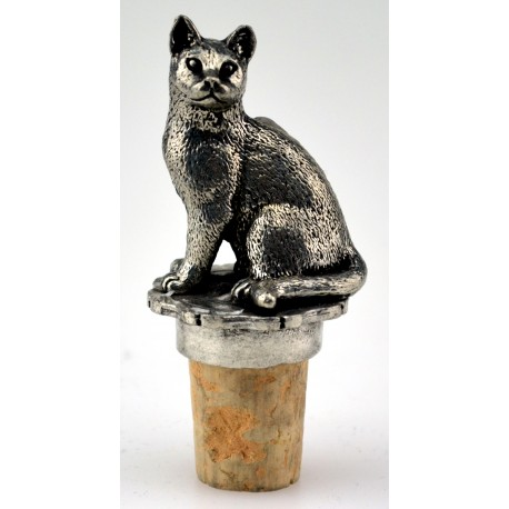 Sitting cat wine cork