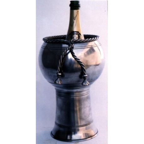Seau à champagne décor cordelette