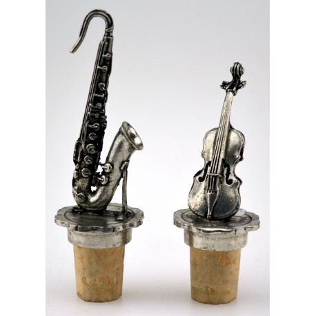 "Set of 2 ""music"" wine corks"