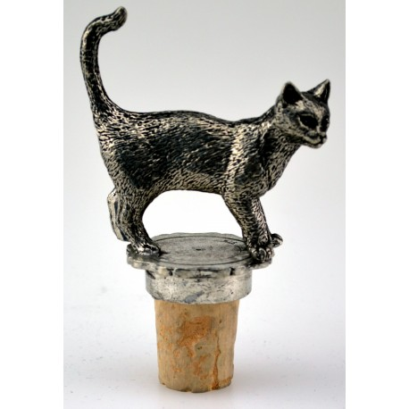 Standing cat wine cork
