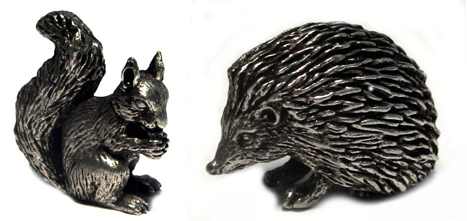 Pewter animal figures